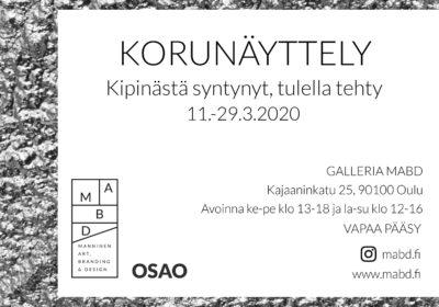 """""""Kipinästä syntynyt, tulella tehty"""", Jalometallialan 10 -vuotis juhlanäyttely Oulussa 11.-29.3."""